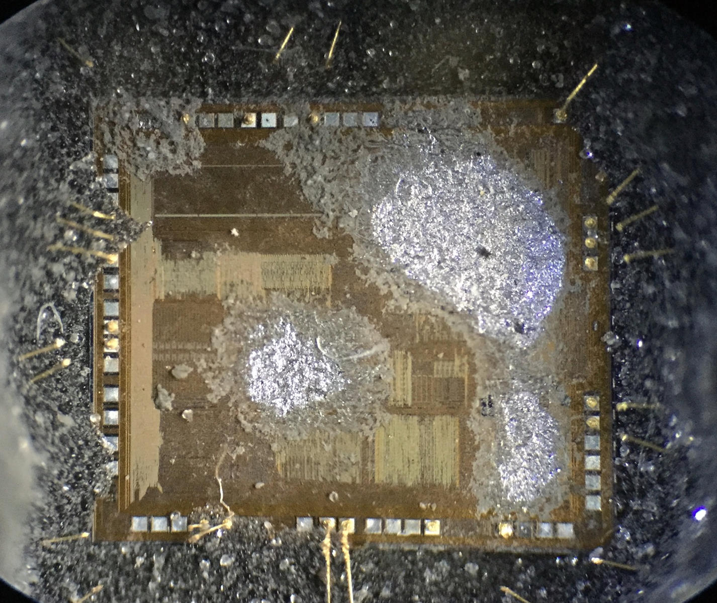 Damaged die from drilling too deep