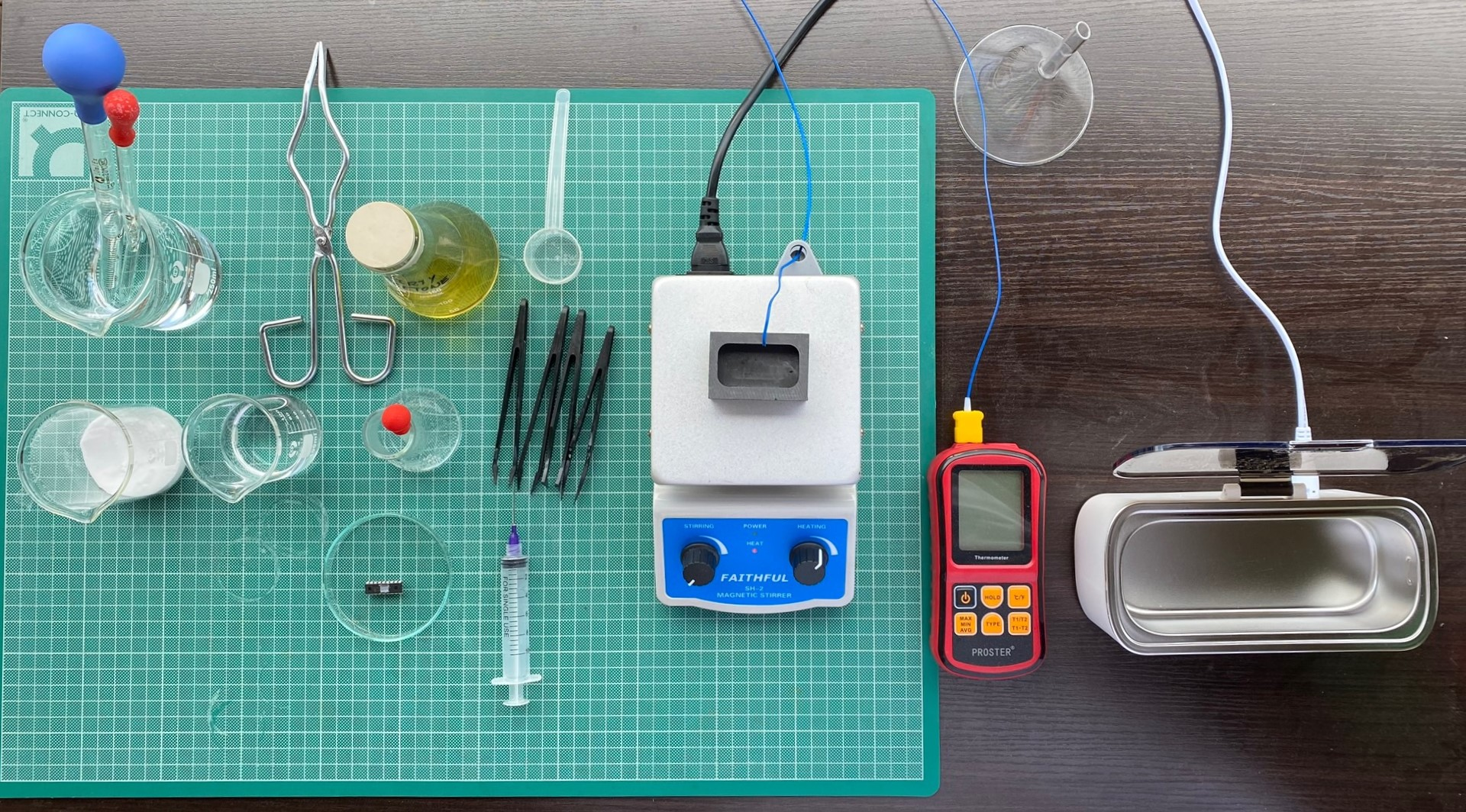 All the equipment used for the most successful method